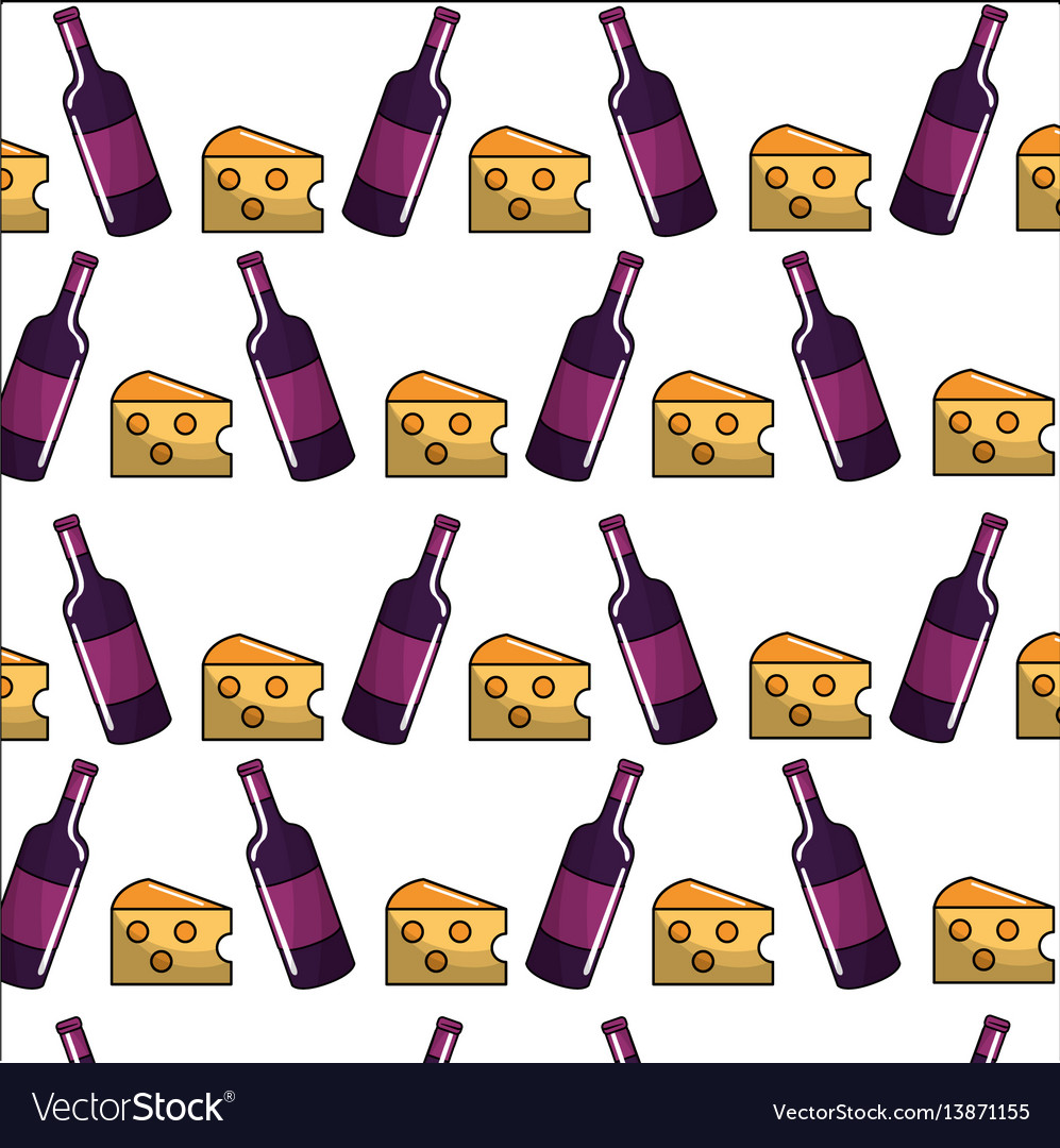 Bottles of wine with cheese backgroud icon