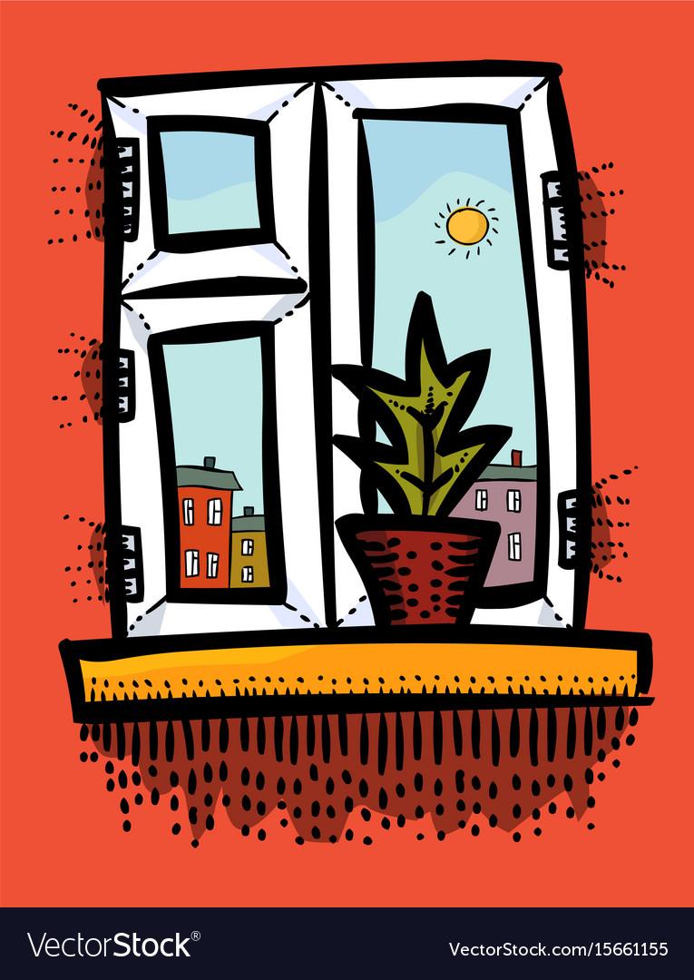 Cartoon image of window icon window symbol set