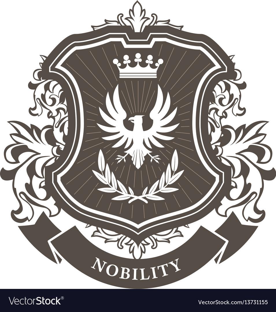 Monarchy coat of arms - heraldic royal emblem