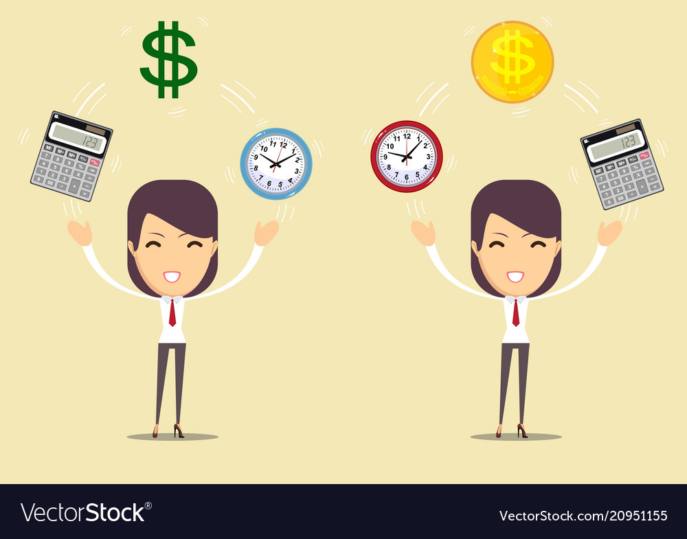 Office clock calculator and money time is money