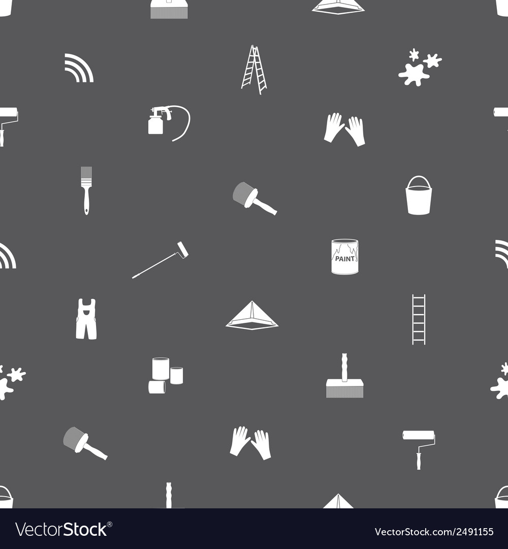 Paint icons seamless gray and white pattern eps10