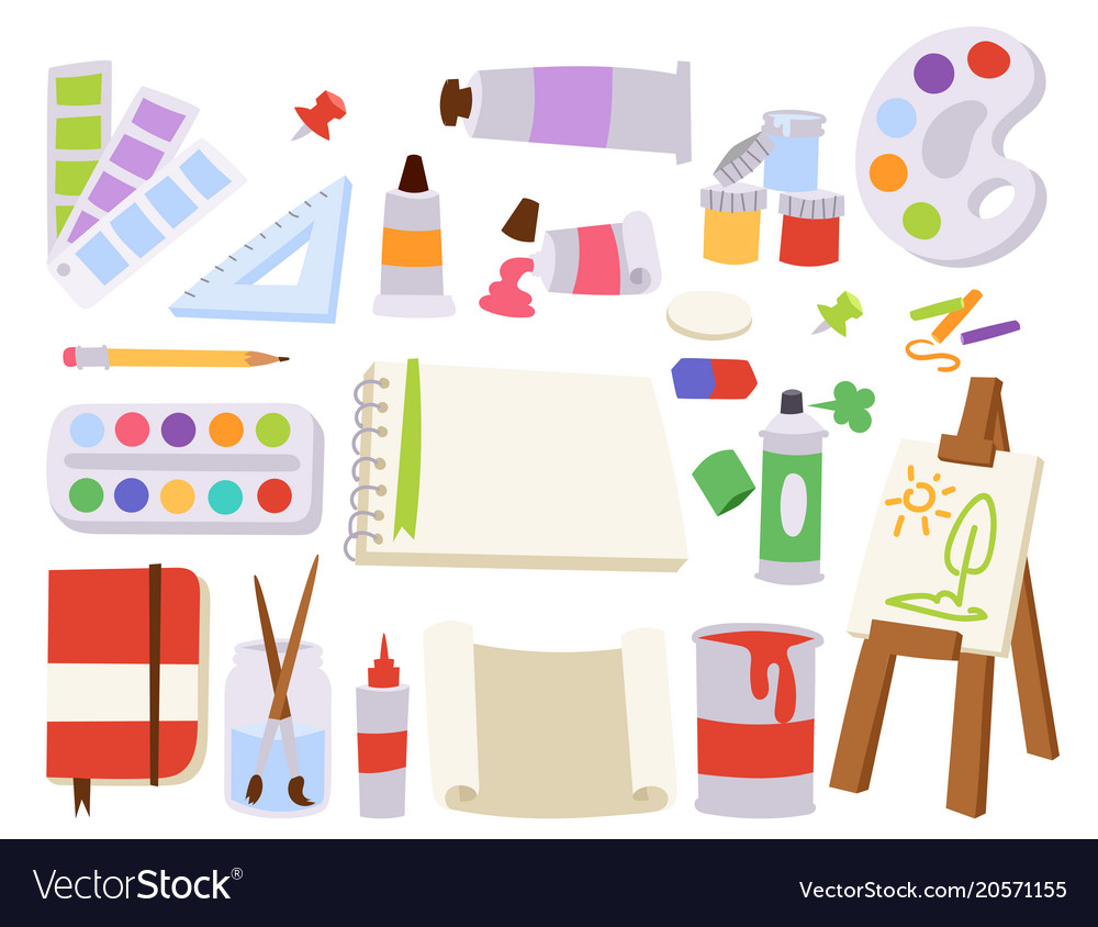 Painting art tools palette