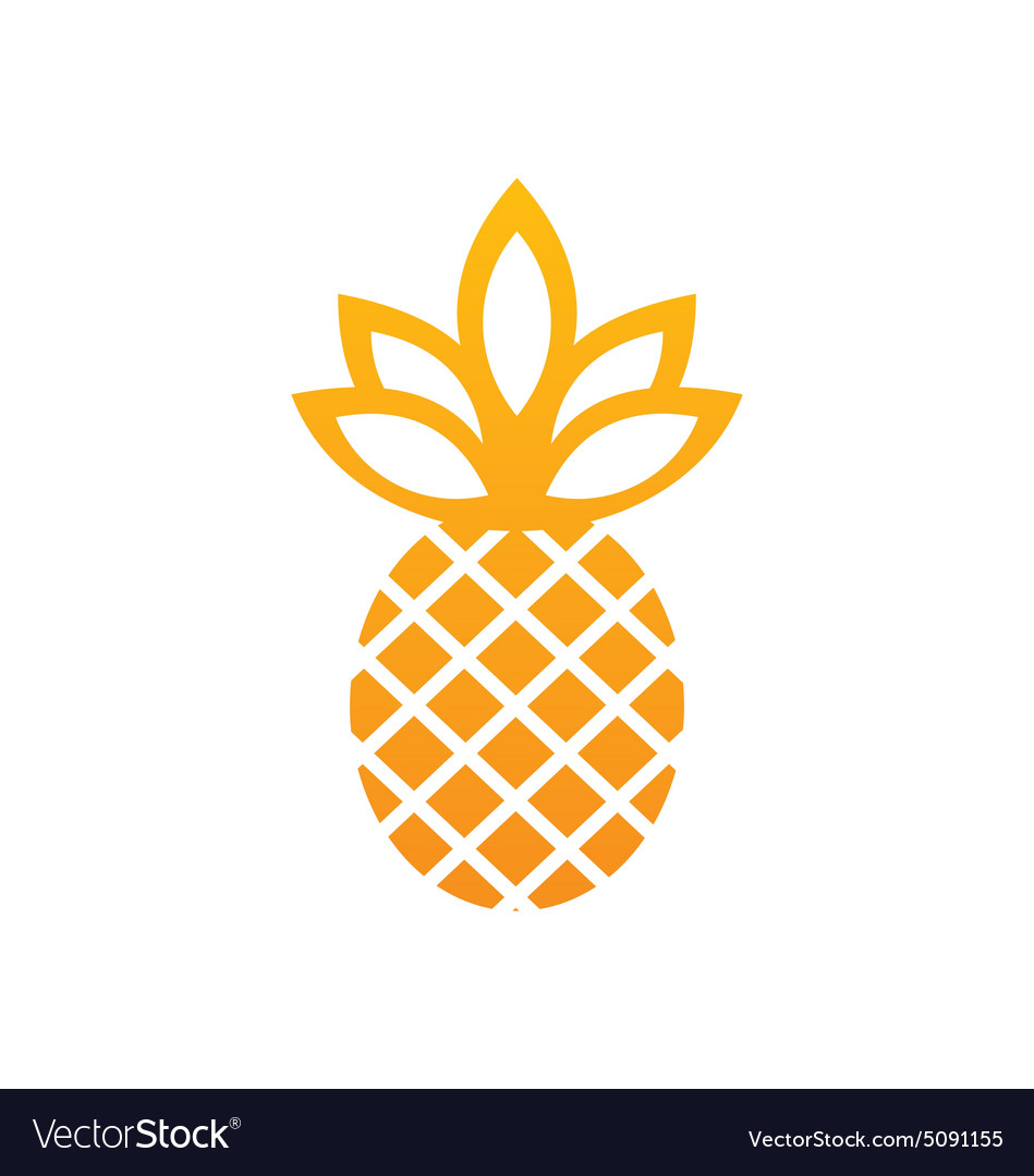 Pineapple icon fruit abstract logo