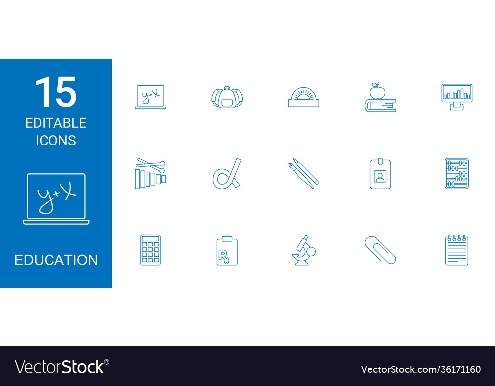 15 education icons