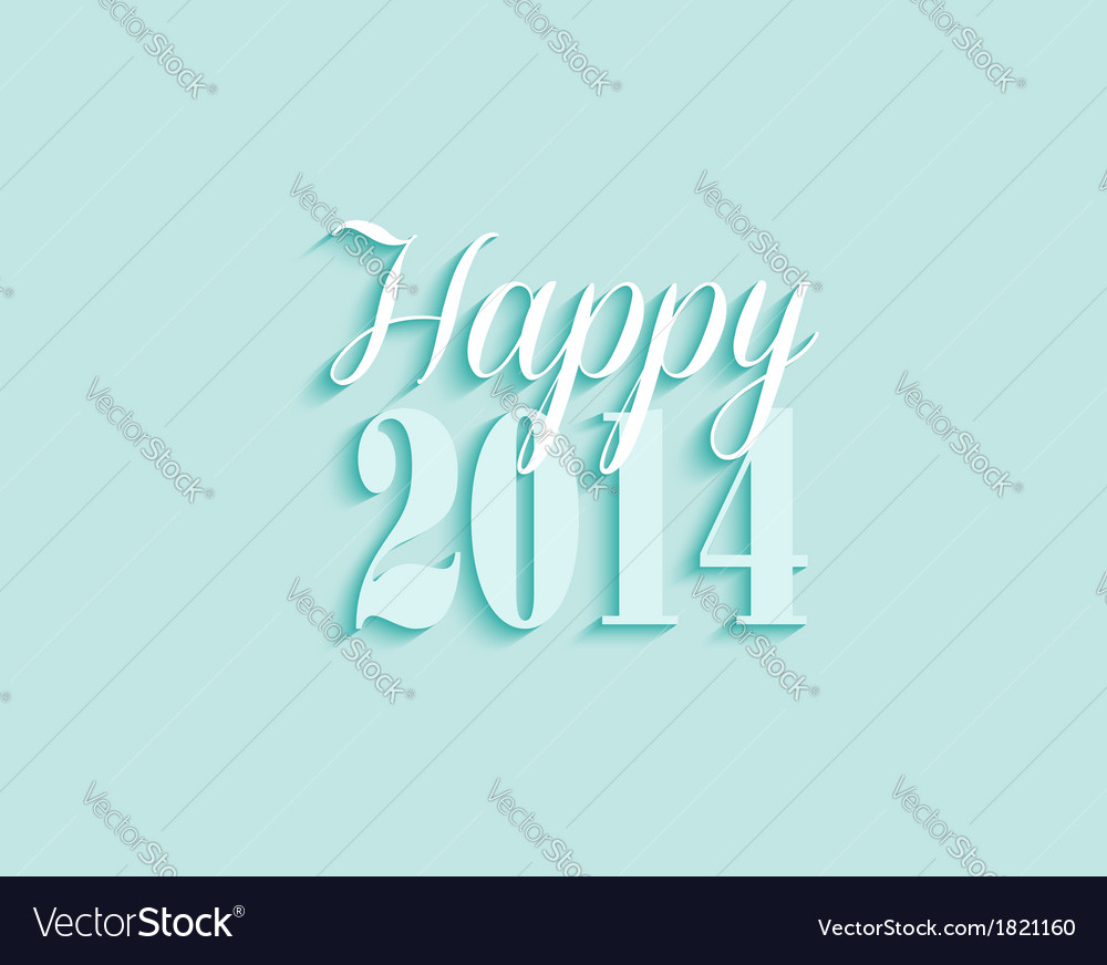 2014 happy new year greeting card background vector image m4hsunfo