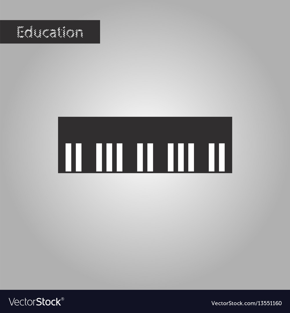 Black and white style icon piano keys