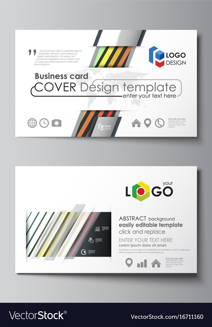 Business card templates easy editable layout vector image fbccfo Choice Image