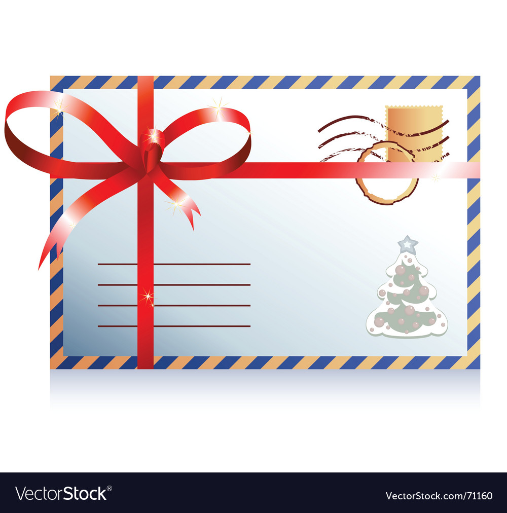 Christmas Mail Royalty Free Vector Image Vectorstock