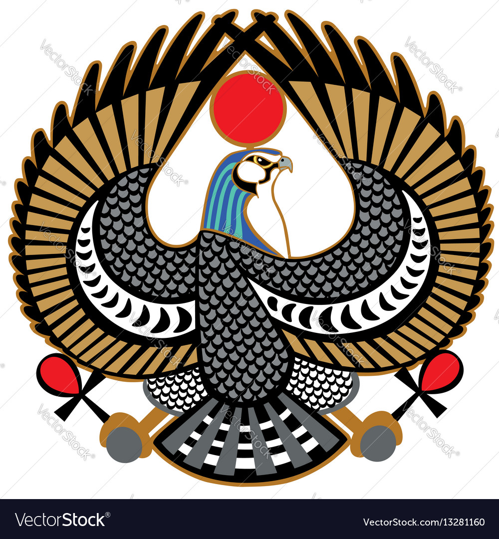 Falcon Symbol Of Horus Royalty Free Vector Image
