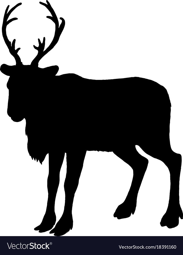 Christmas Reindeer Silhouette.Reindeer Silhouette Black White Icon Christmas
