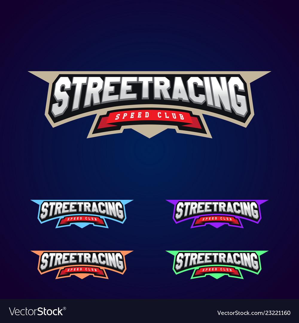 Set of the power full street racing sport