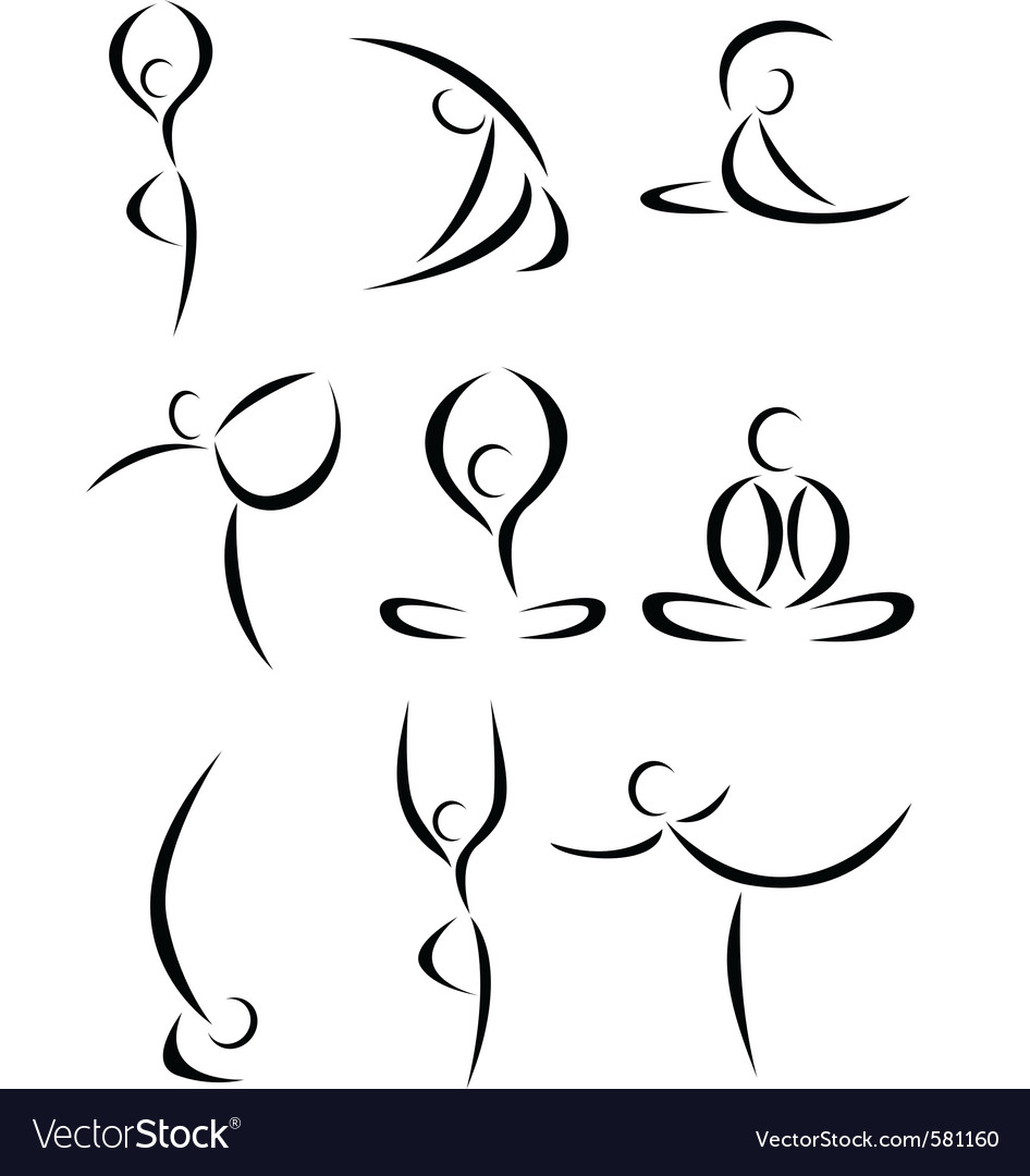 Yoga Symbol Royalty Free Vector Image Vectorstock Rh Com Sivananda Hatha Therapy Text