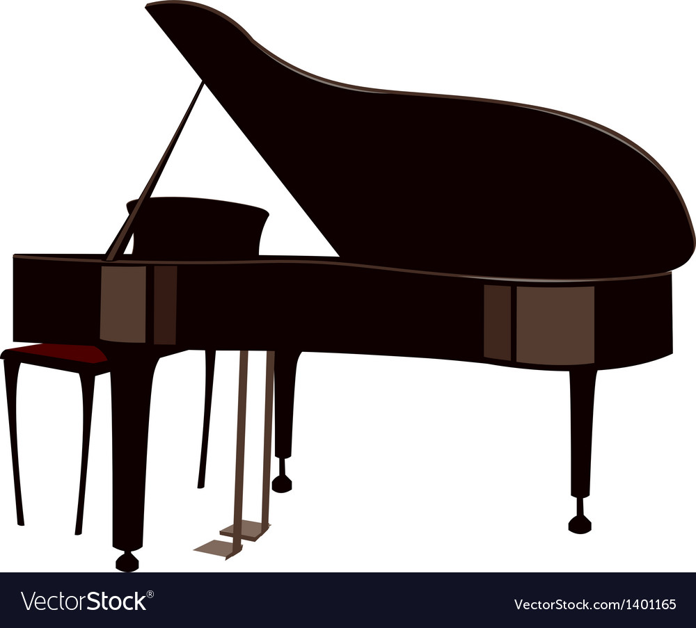 A Grand Piano Vector Image