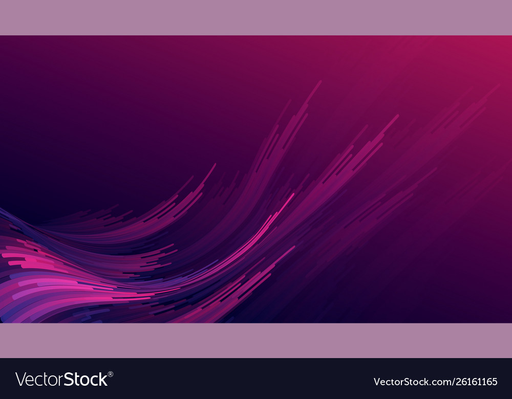 Abstract gradient purple pink curve wave stripes