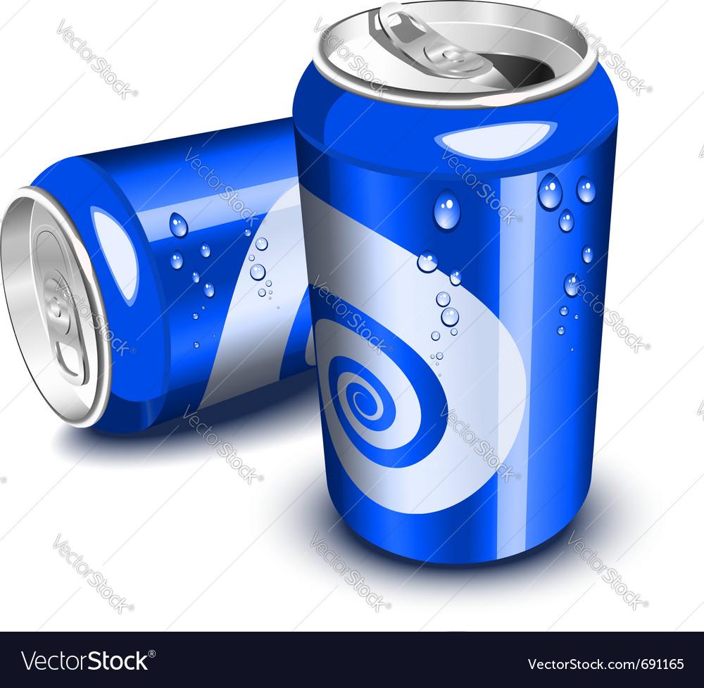 Blue soda cans