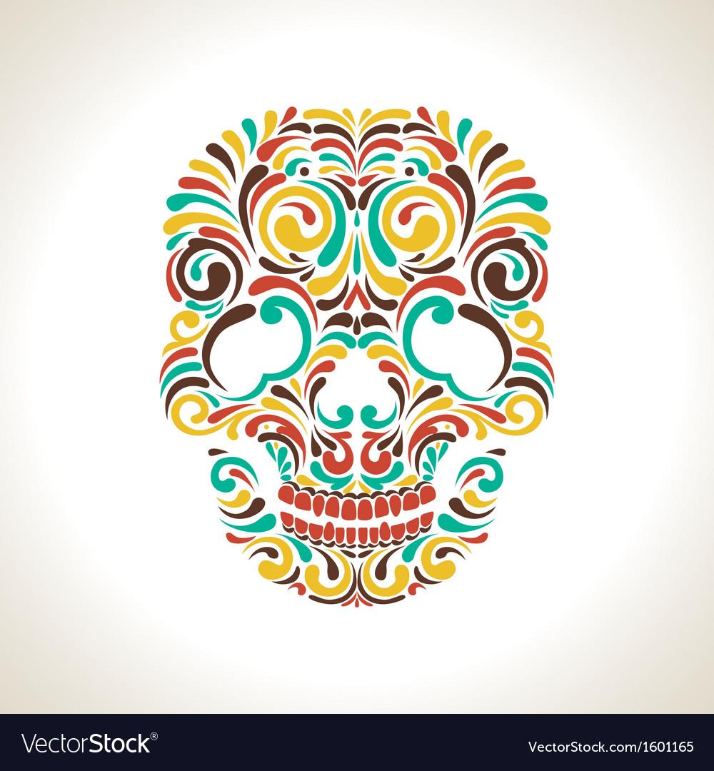 Colorful ornate skull