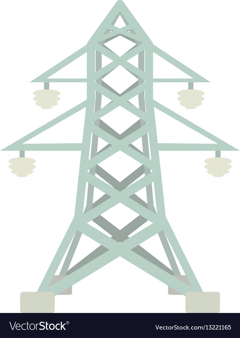 Electric pole icon cartoon style vector image