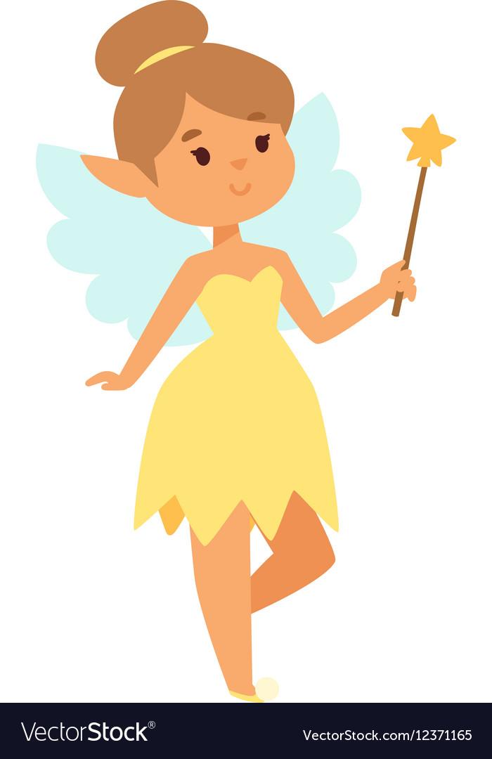 Fairies Cartoon Character Royalty Free Vector Image