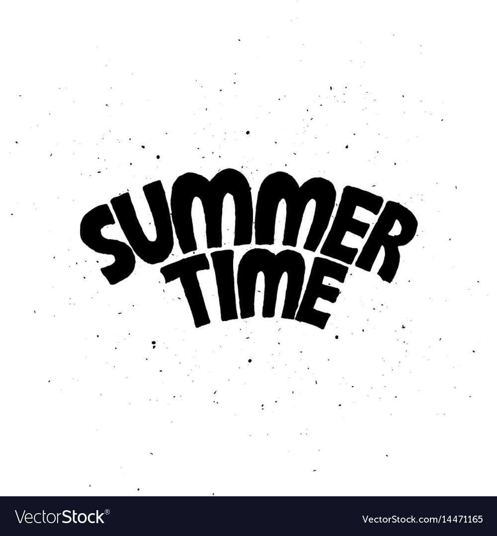 Hello summer inscription posters set