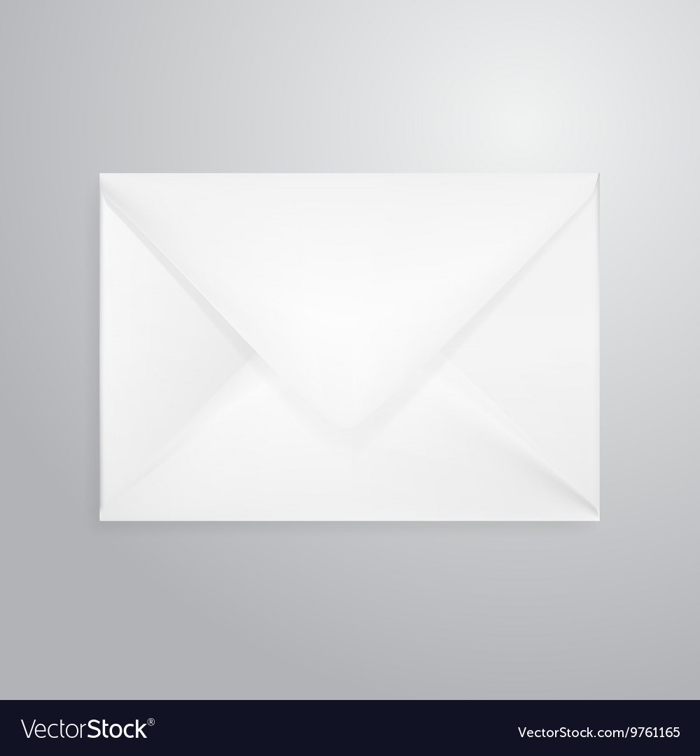 Open Envelope Letter Isolated On White Royalty Free Vector