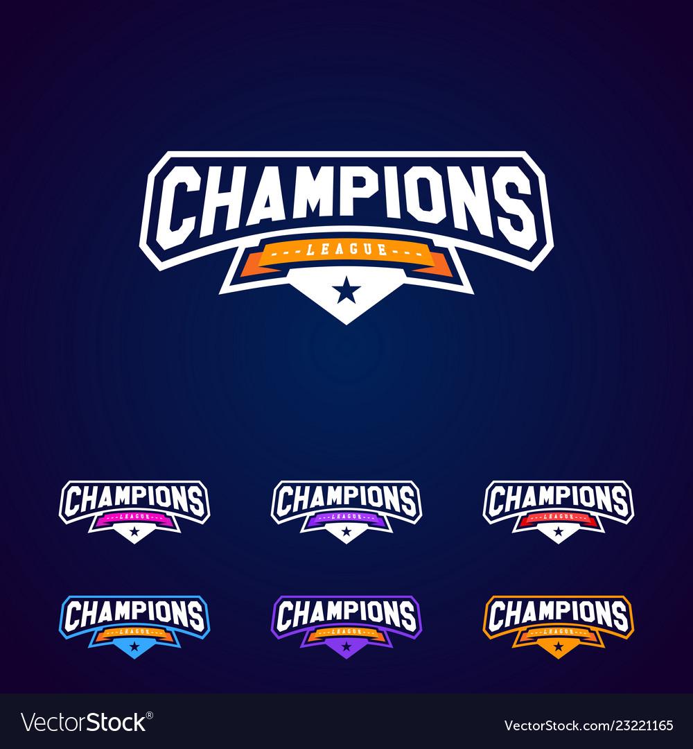 Set champion sports league logo emblem