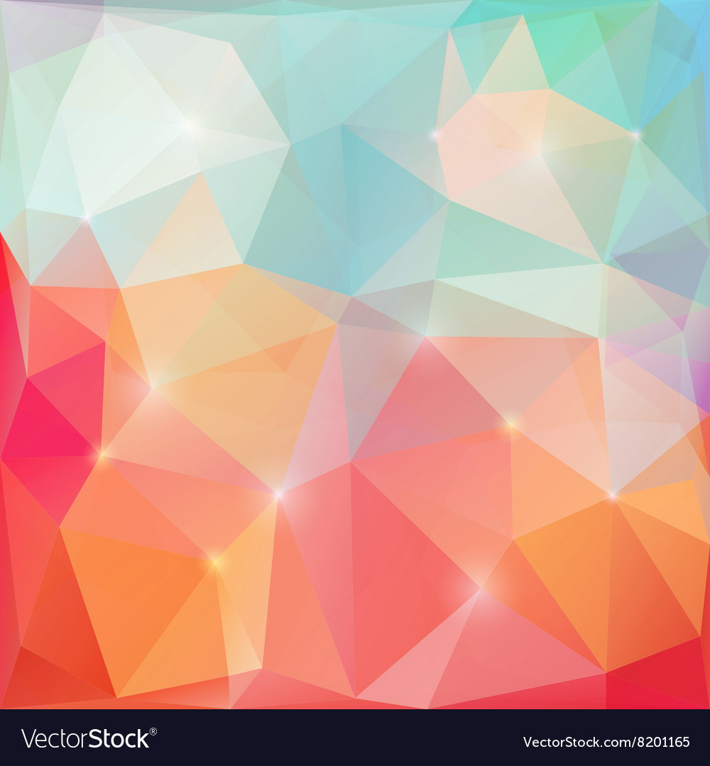 Shining triangles poligonal
