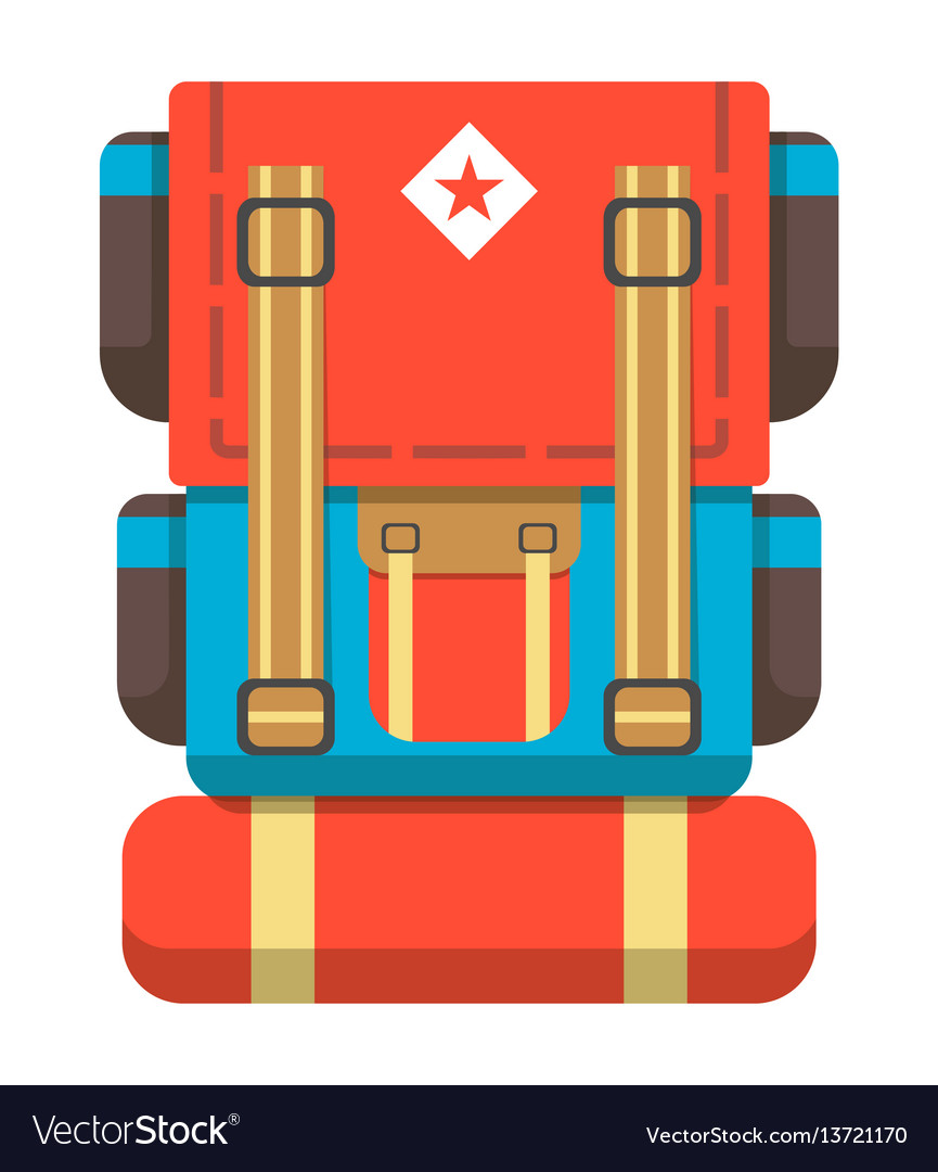 Big travel backpack icon