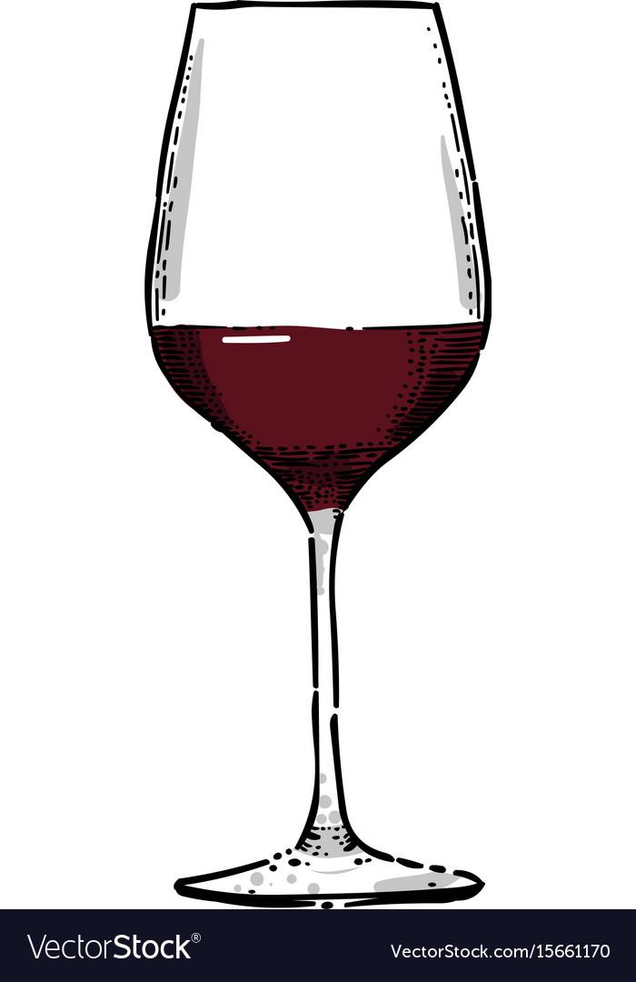cartoon image of wine icon wine glass symbol vector image rh vectorstock com cartoon wine glass clip art cartoon wine glass png