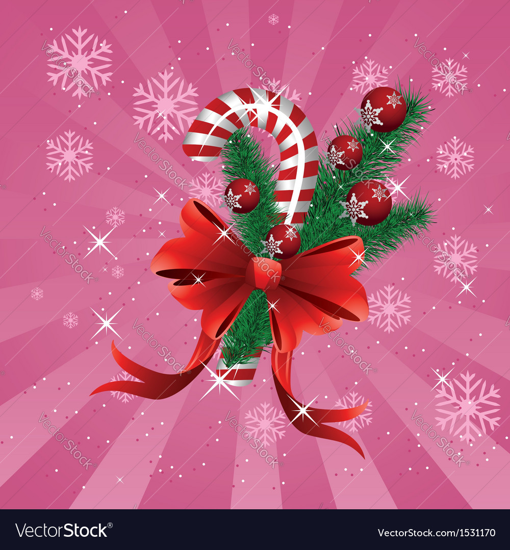 Christmas candy cane pink background