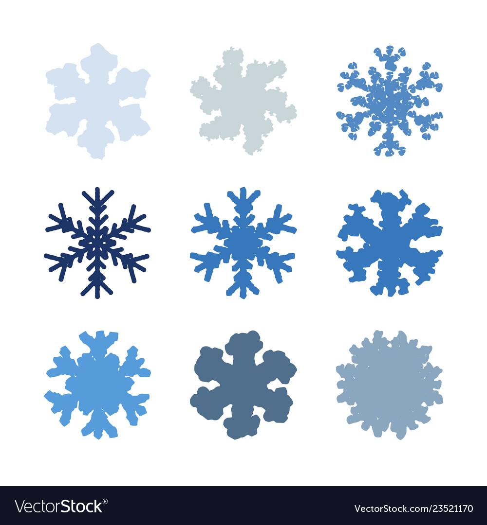 Chunky marker snowflakes set