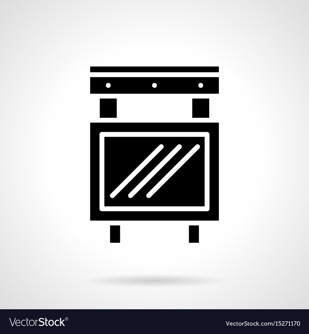 Entertainment advertising glyph style icon vector image