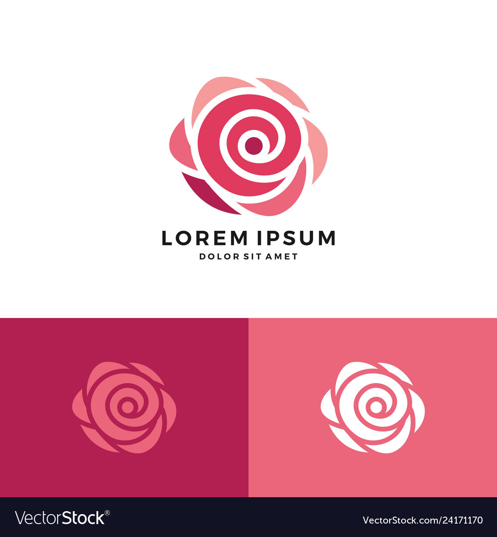 Red rose logo icon flower download