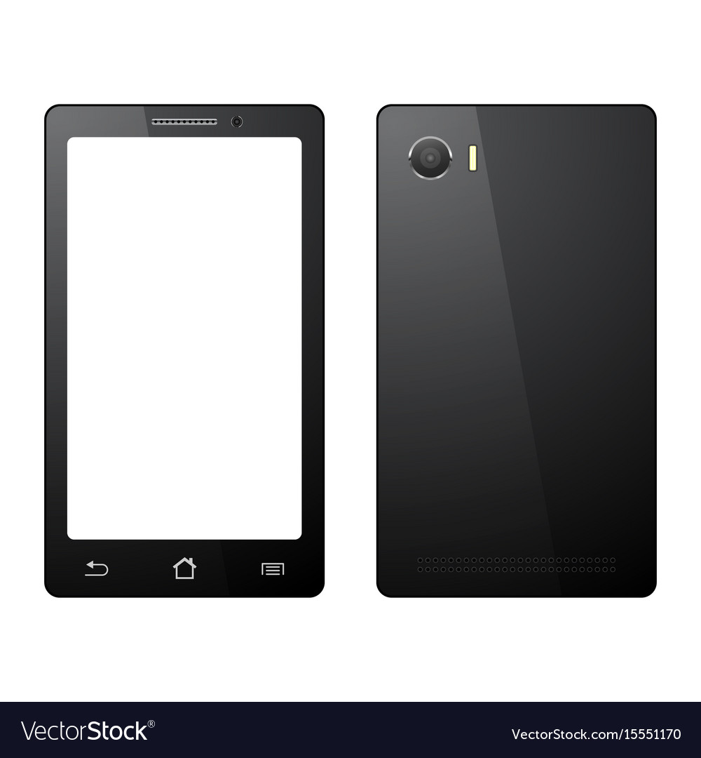 Smartphone on white background mobile phone vector image
