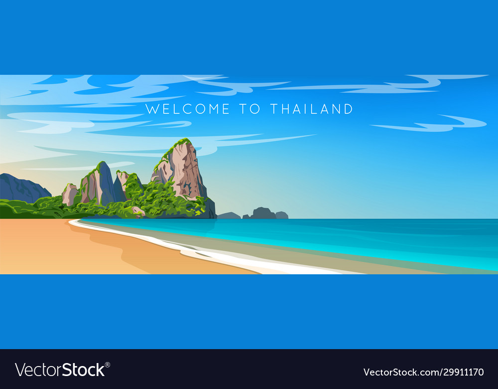 Wide panorama thailand landscape
