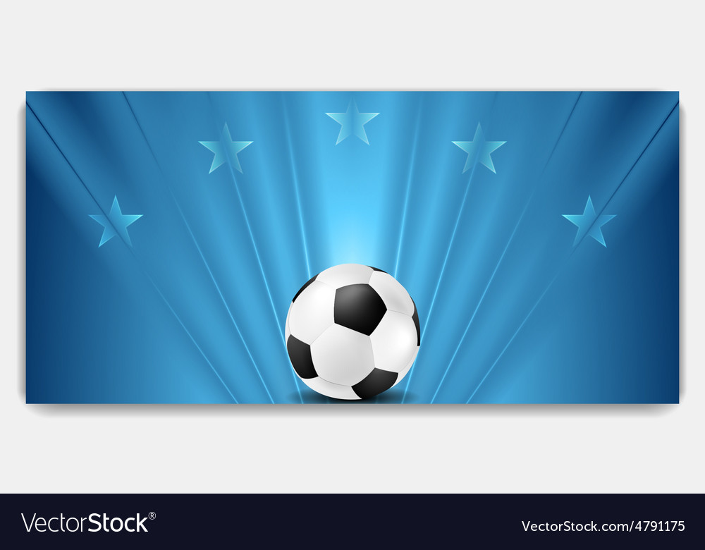 Bright abstract blue soccer background
