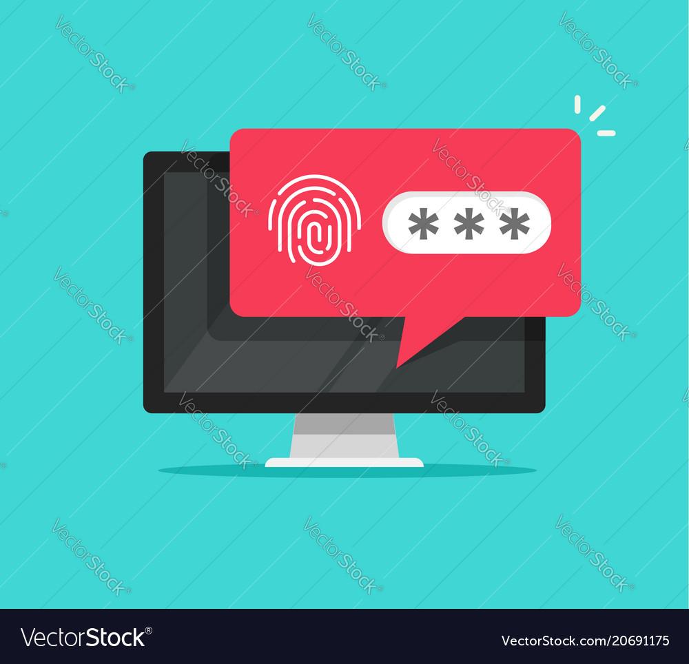 Desktop computer with unlocked via fingerprint