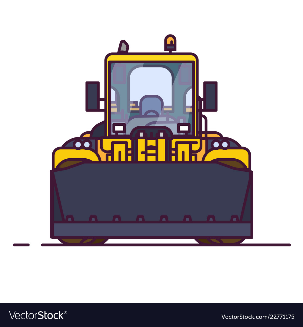 Front view of wheel loader
