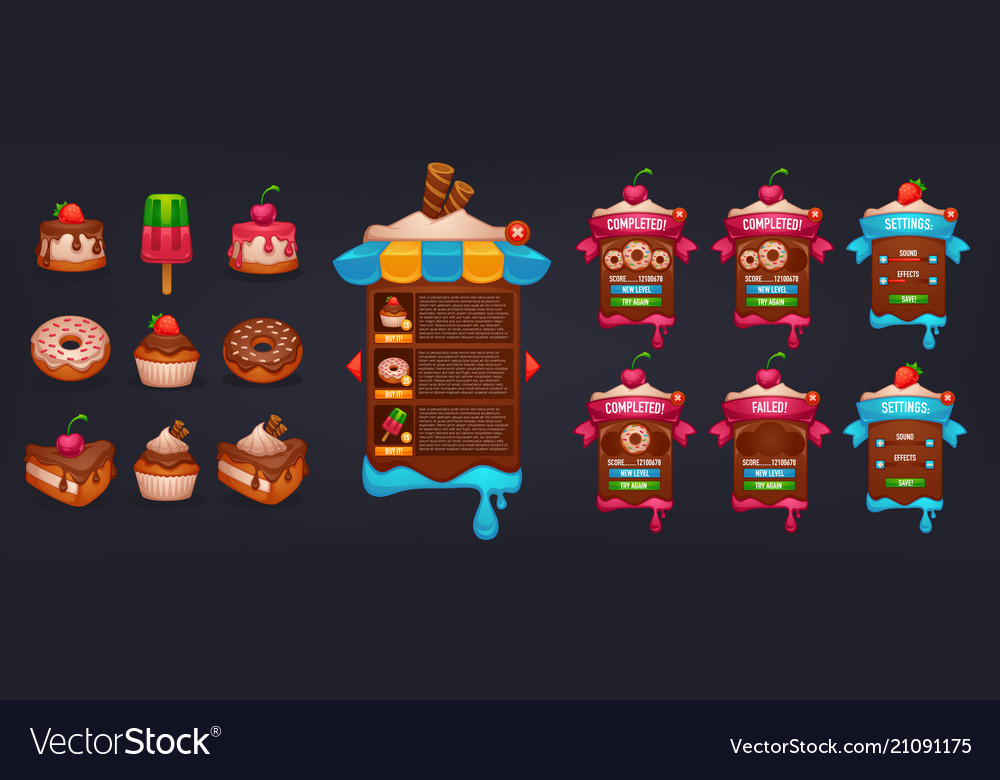 Little cakes shop all for your mobile game