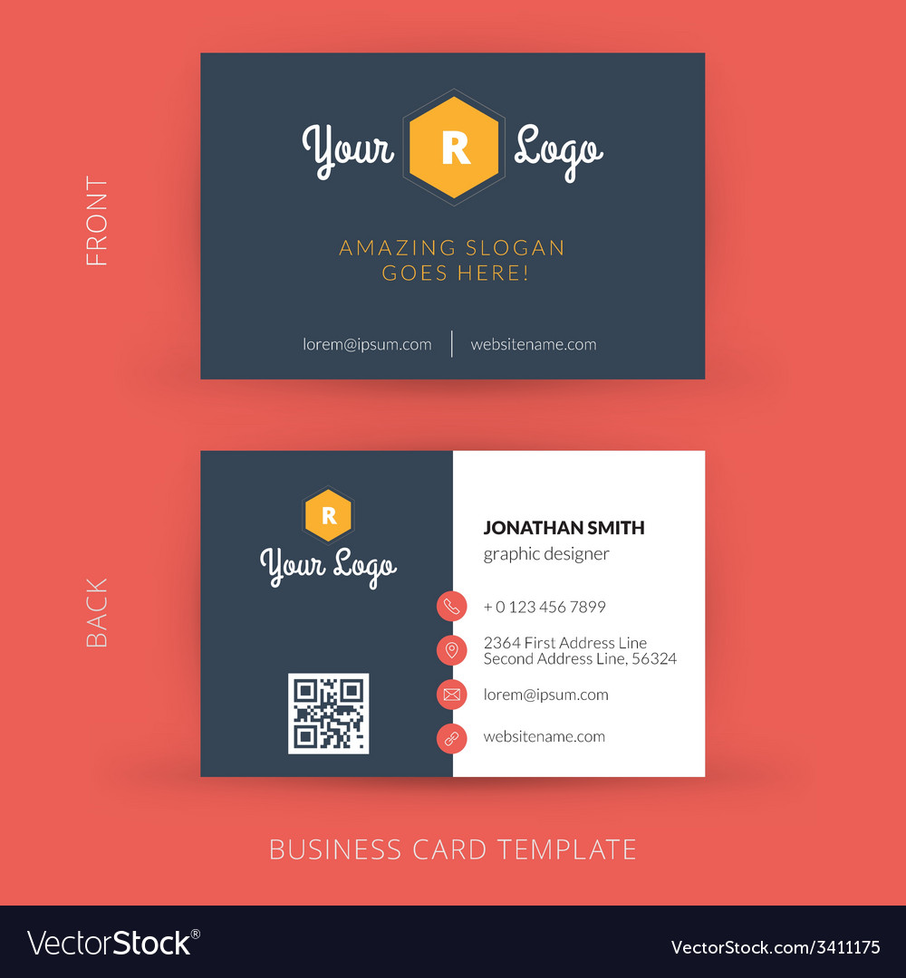 Modern creative business card template flat design modern creative business card template flat design vector image flashek Image collections
