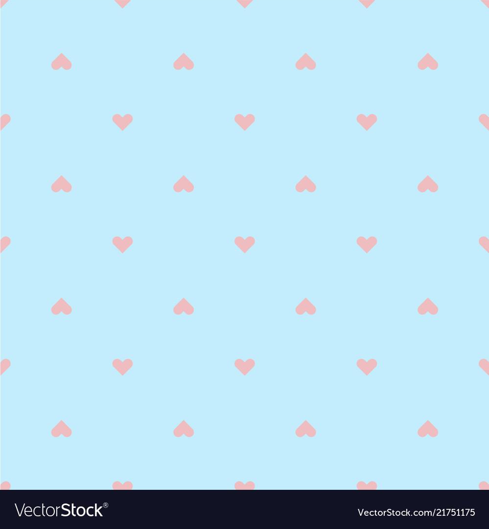 Modern pink heart pattern blue background i