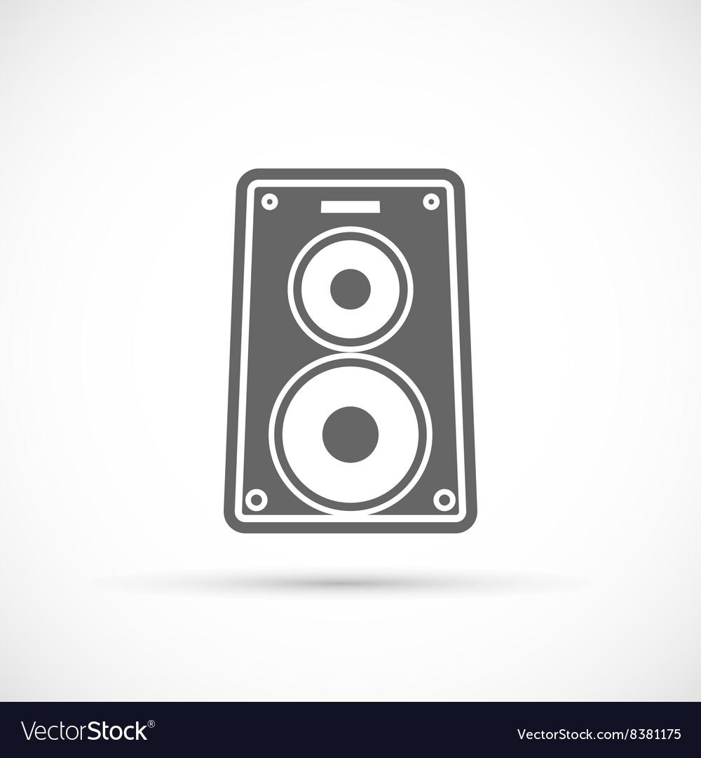 Speaker music icon vector image
