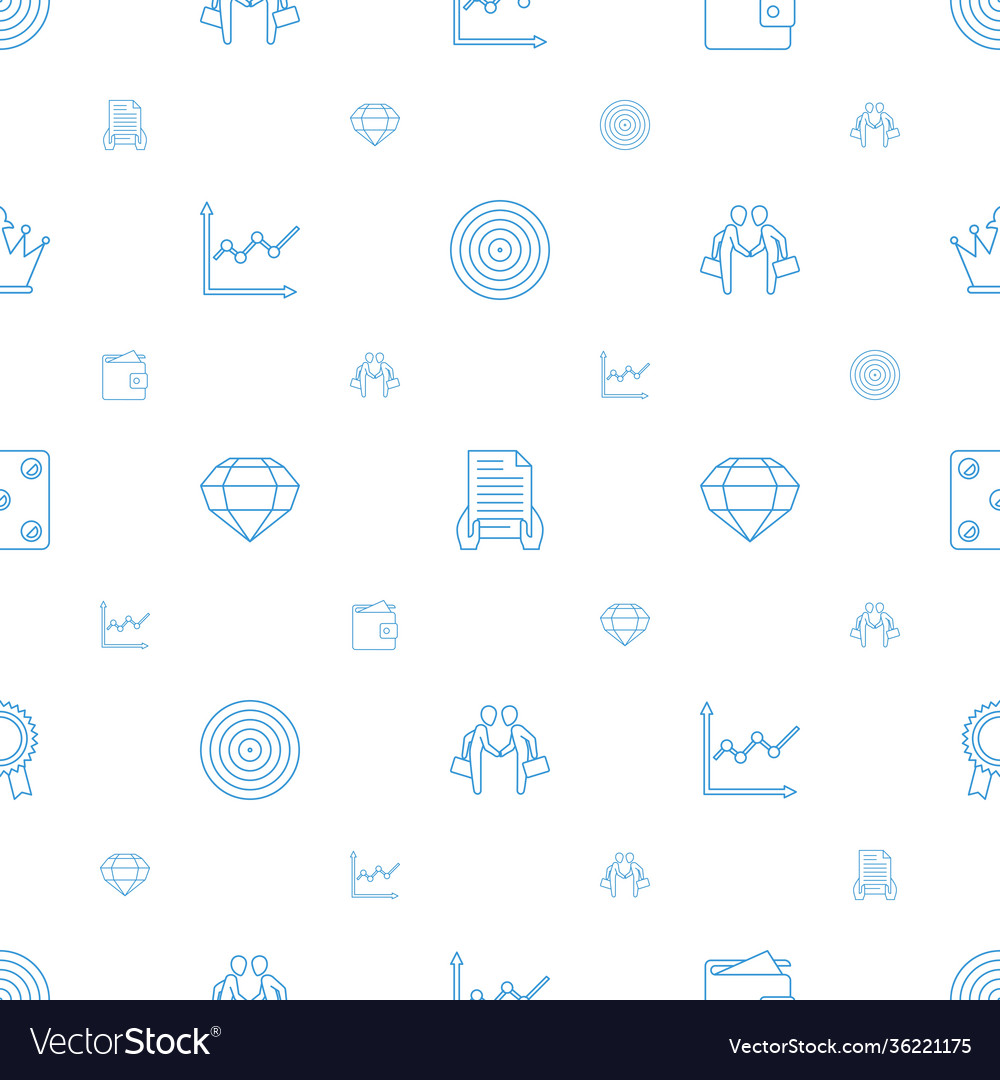 Success icons pattern seamless white background