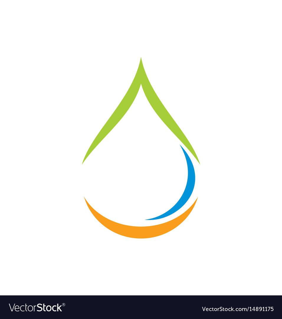Water drop bio ecology abstract logo