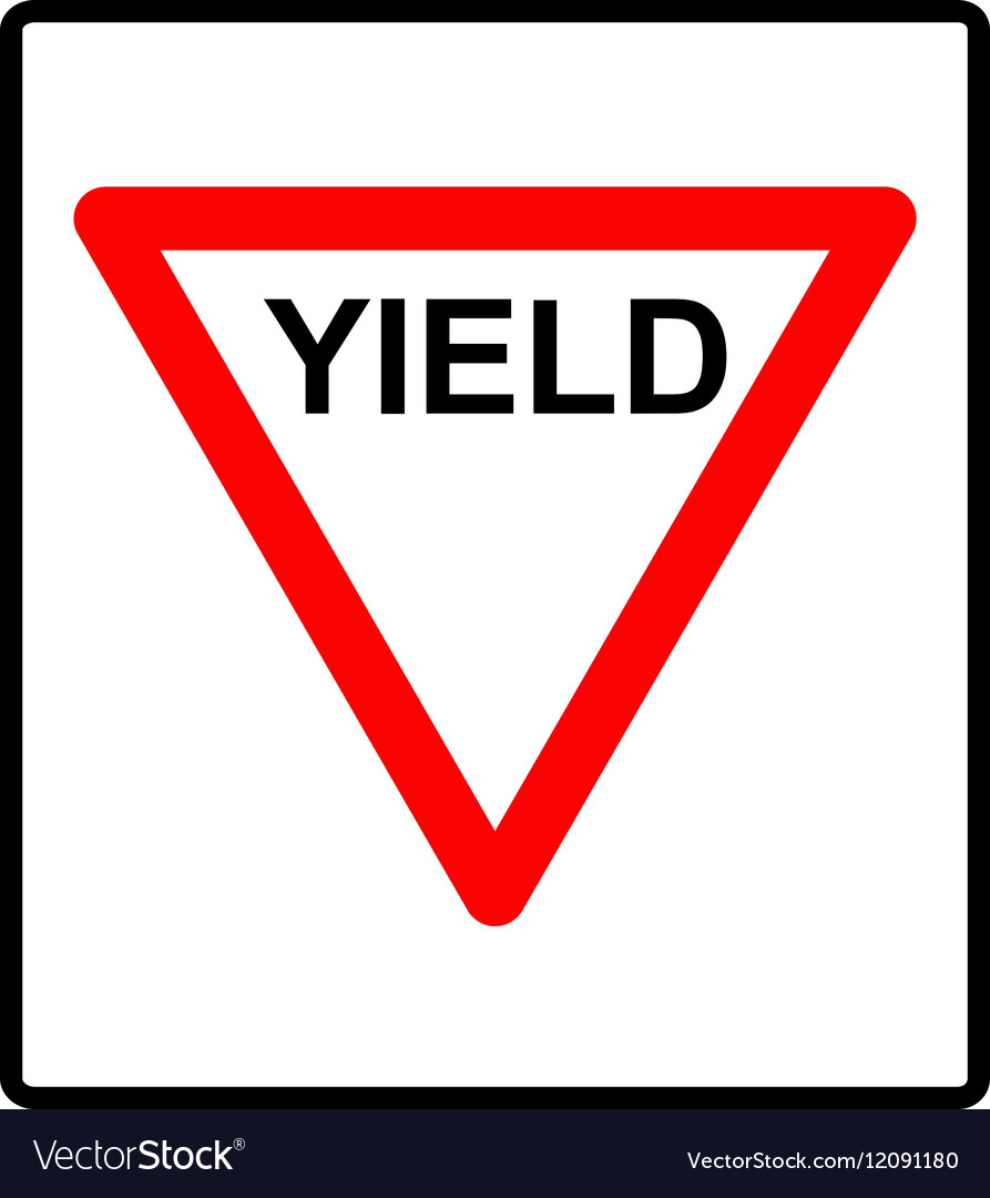 A yield road sign