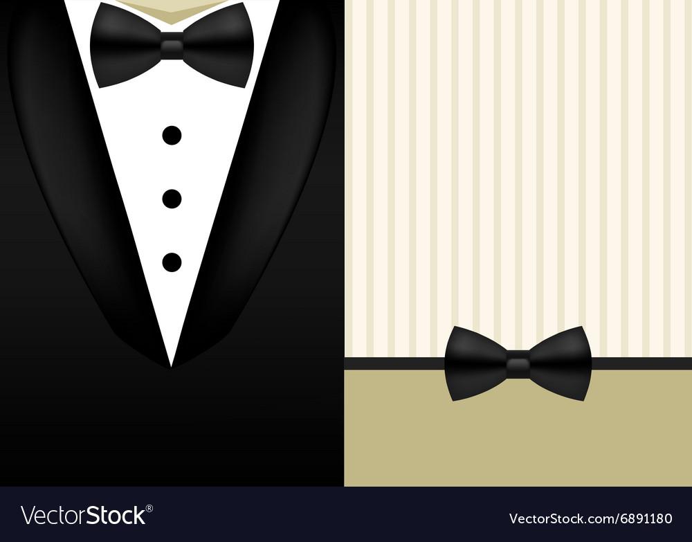 Bow tie tuxedo invitation design template