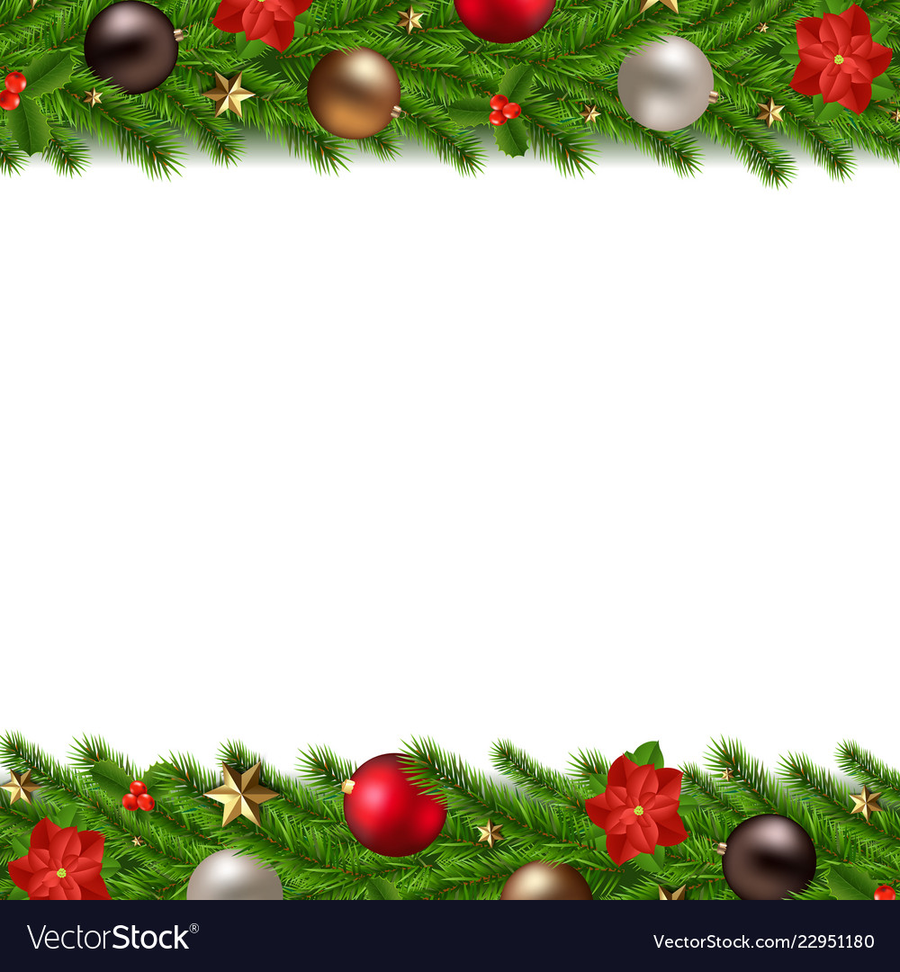 Christmas Garland Isolated White Background Vector Image