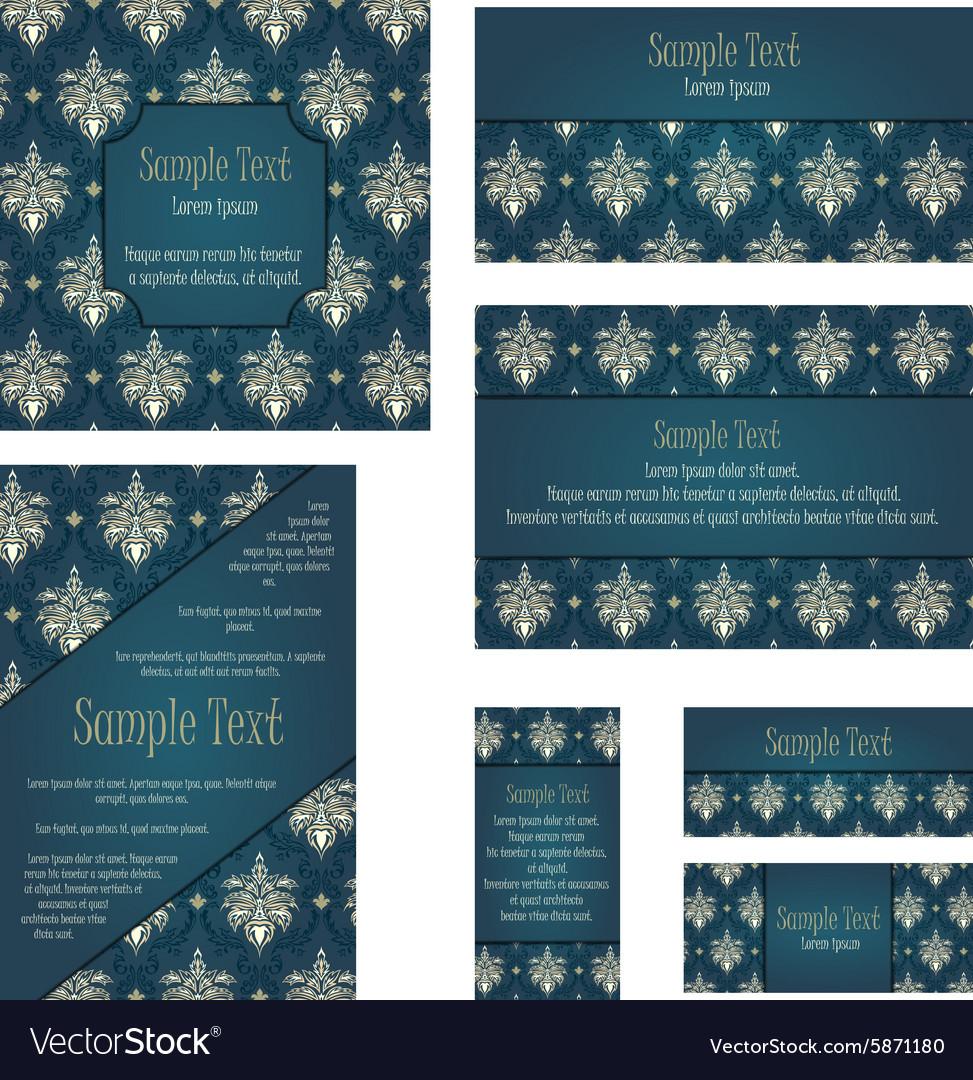 Damask Invitation Card Set