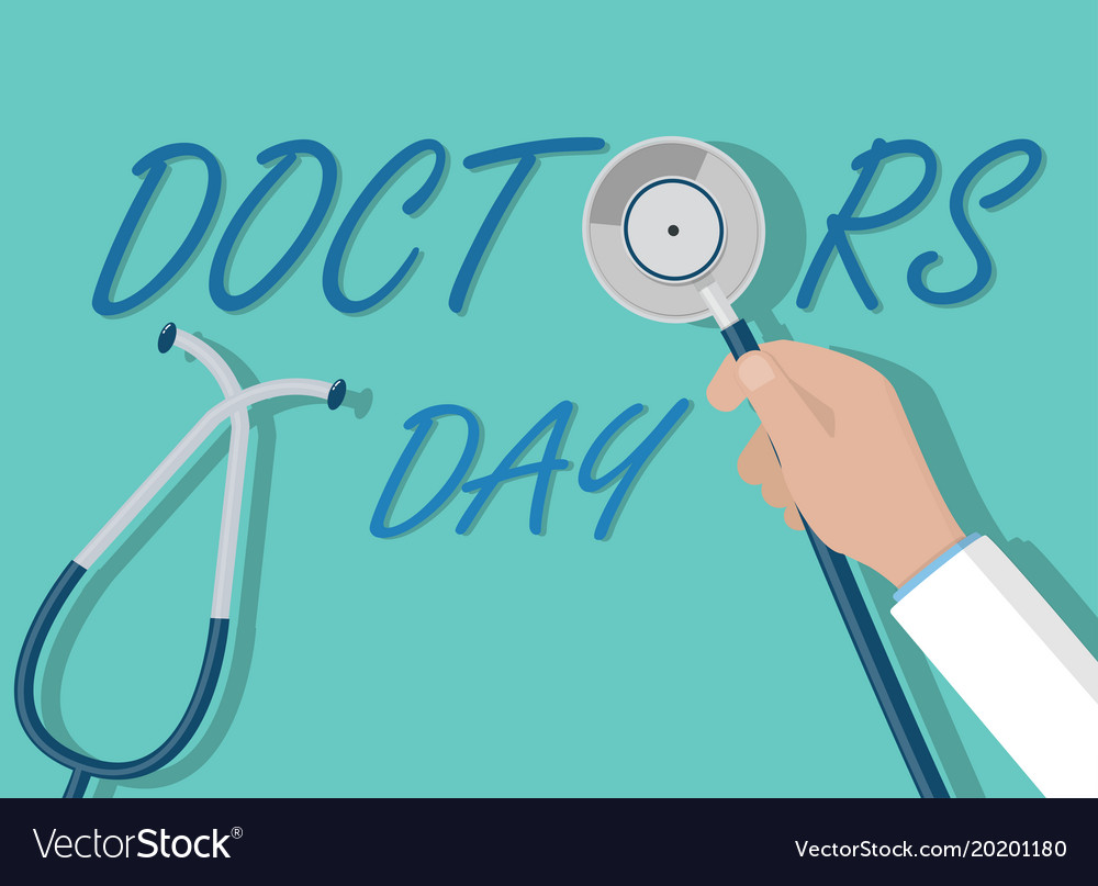 Doctor day concept doctor hand holding