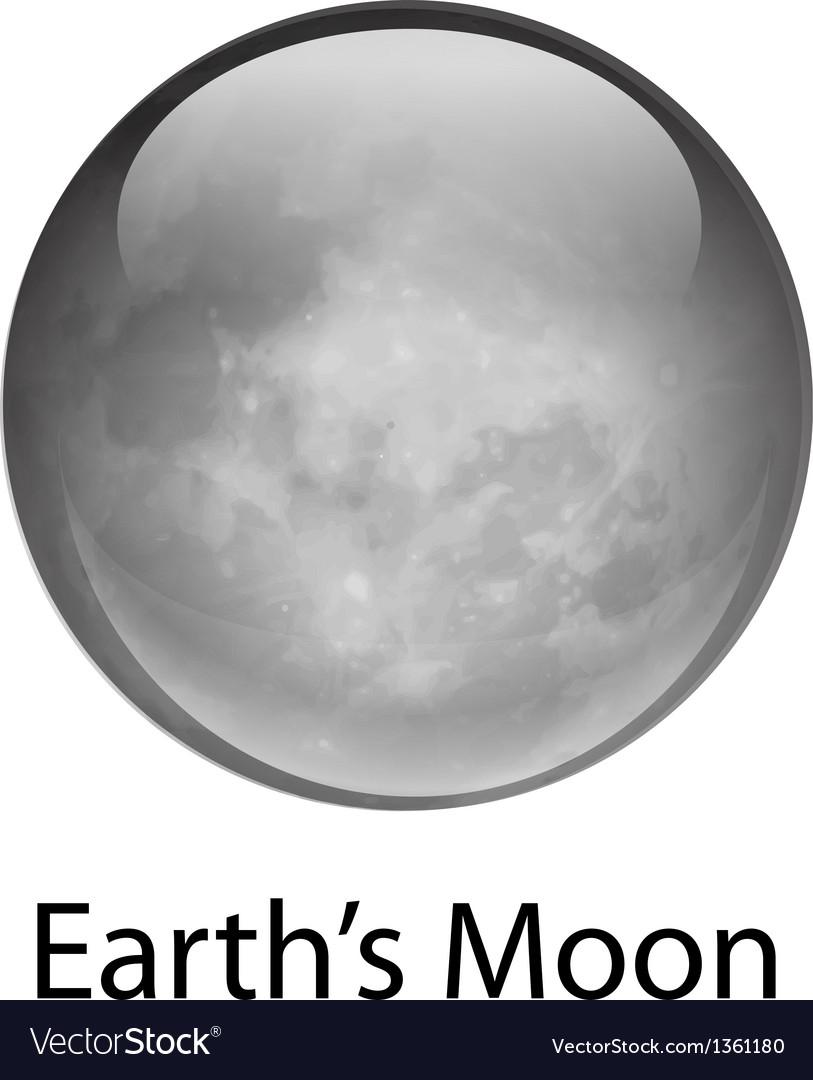 Earth Moon vector image