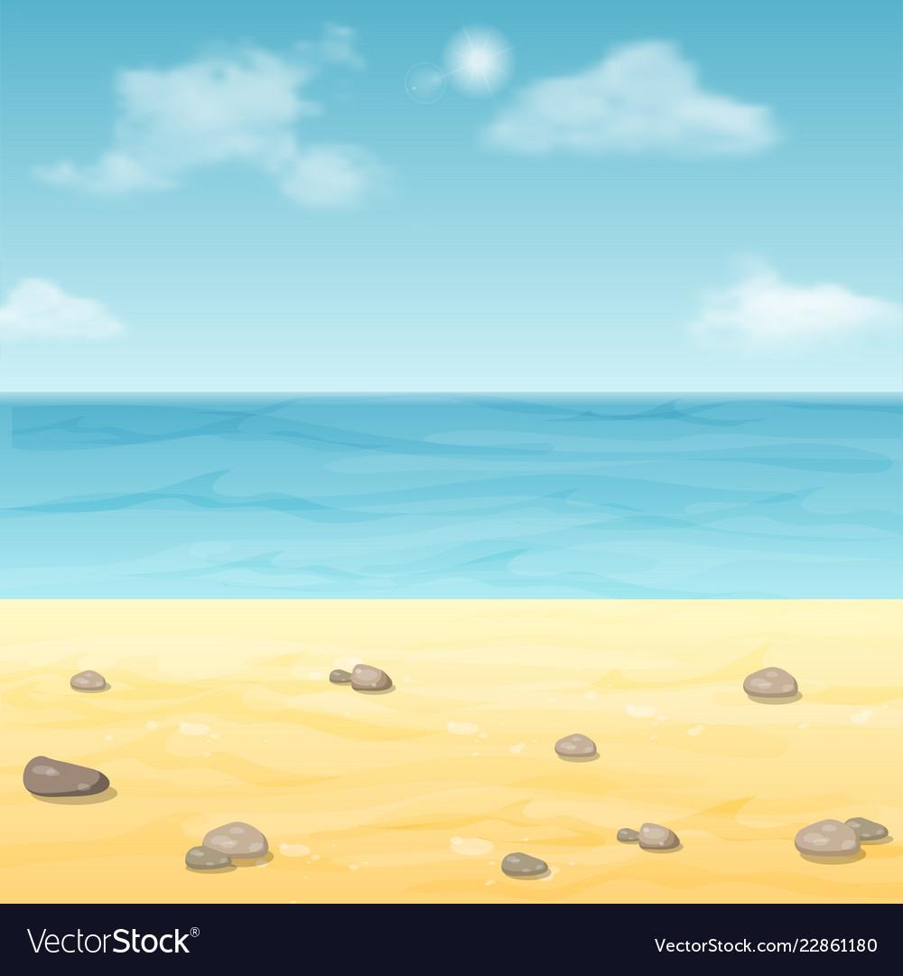 Empty summer sea beach